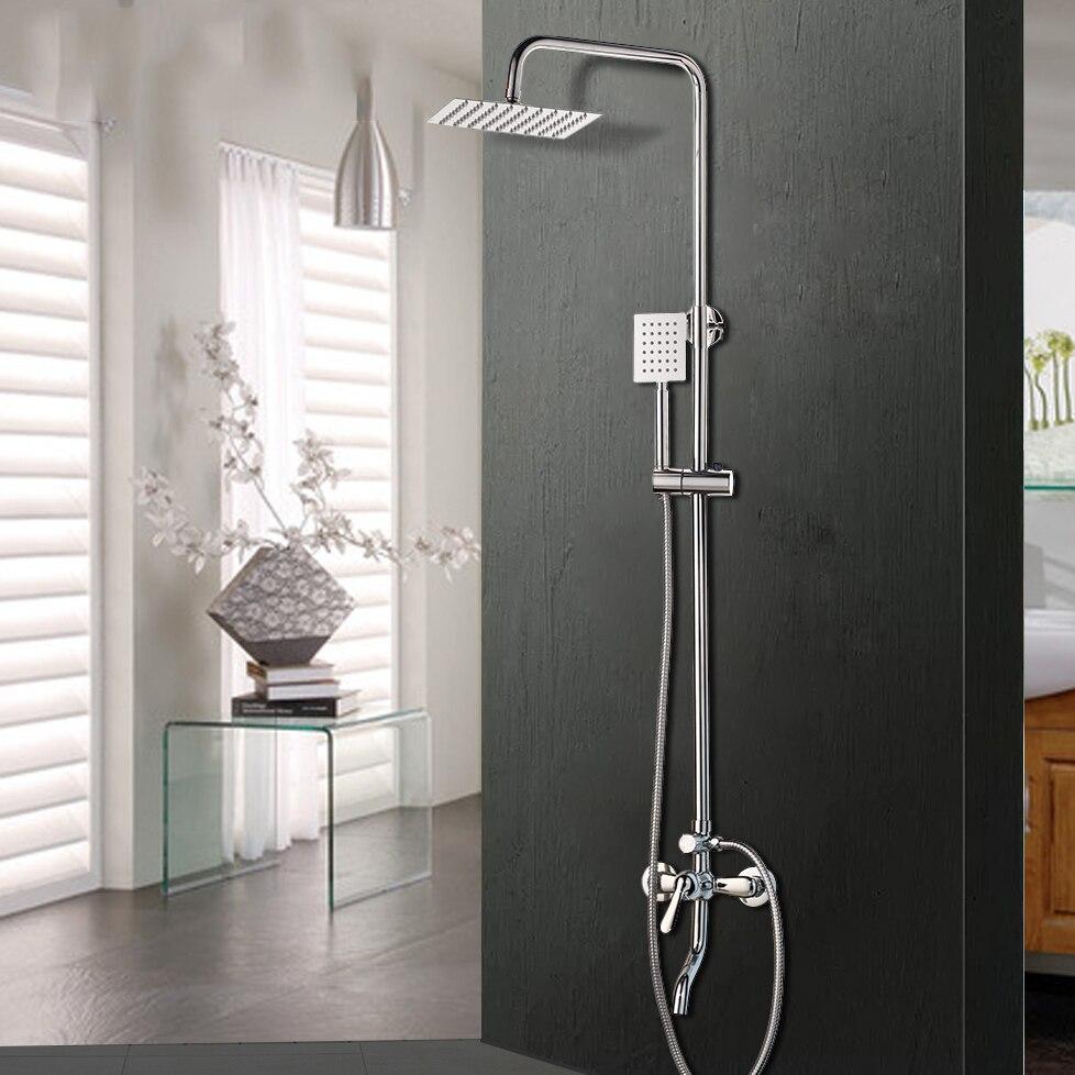 KEMAIDI Bathroom Mixer Shower Bathtub Taps Rainfall Shower Wall Torneira Tap  8