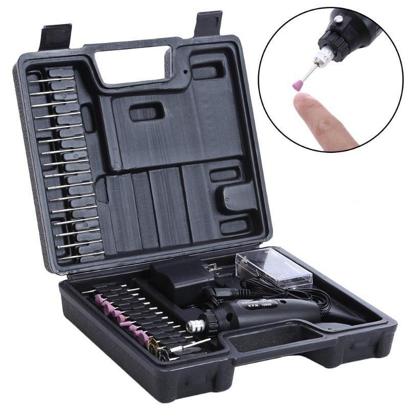 Manucure électrique perceuse Nail Art équipement de polissage accessoires 60 pièces/ensemble vernis à ongles meulage outils de vitrage Pro Eu Plug