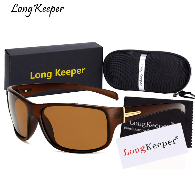 Long Keeper Women Polarized Sunglasses For Men Square Sun Glasses Special Driving Safety Anti-UV Goggles UV400 Eyewears With Box