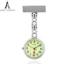 Часы светящиеся для медсестер модные кварцевые карманные флуоресцентные