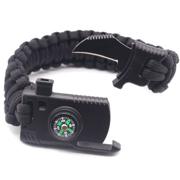 Multi-Function Compass Paracord Survival Bracelet