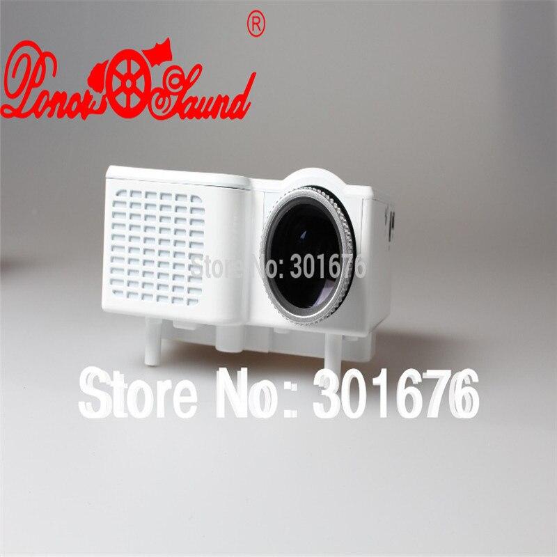 Poner saund nueva llegada blanco gp1 mini proyector inteligente hd lcd juego de