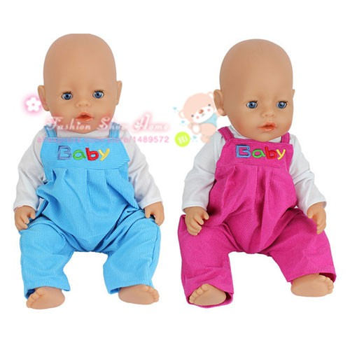 2color choose 1set=coat+pants clothes Wear fit 43cm Baby Born zapf,  Children best  Birthday Gift(only sell clothes) 2color choose leisure dress doll clothes wear fit 43cm baby born zapf children best birthday gift only sell clothes