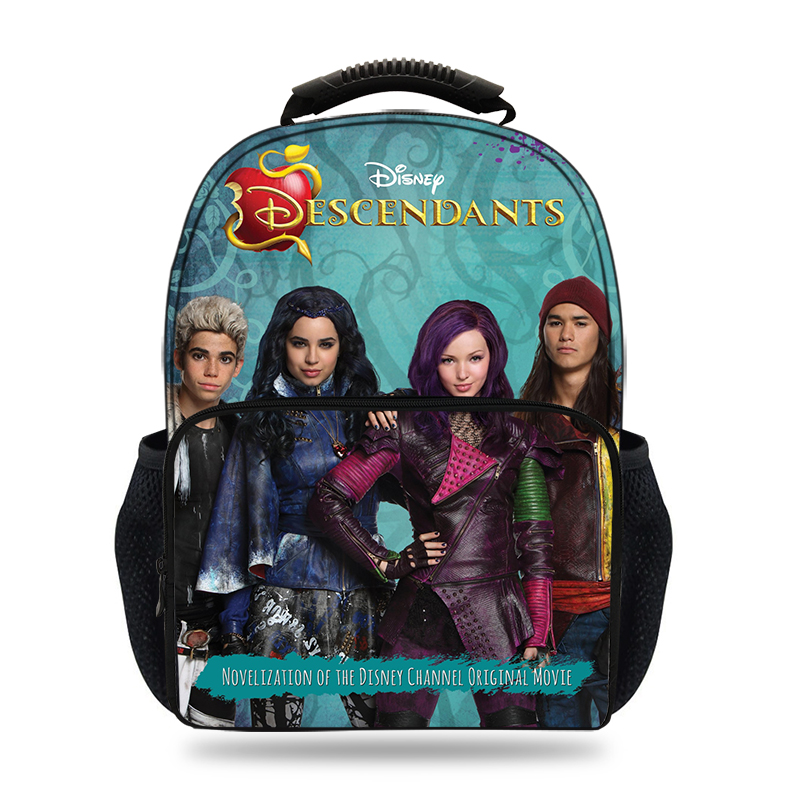 Schoolbag Backpack Descendents 15inch Boys 2-Characters Children 3D for Laptop Casual