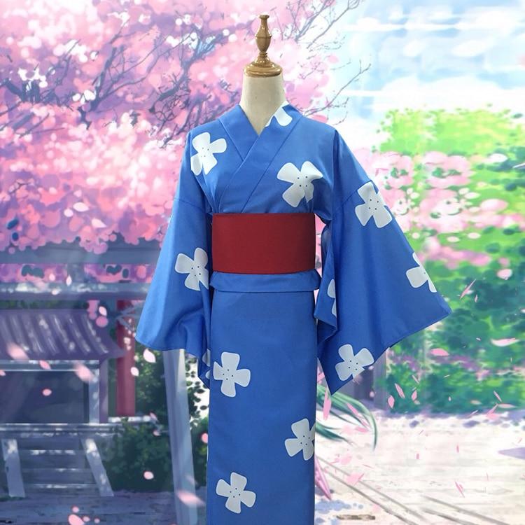 Anime ton nom. Cosplay Miyamizu Mitsuha dessin animé femme Halloween Lolita Cos japonais kimono Costume de Cosplay