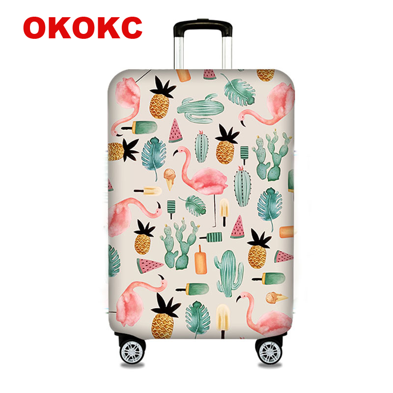 OKOKC Flamingos Suitcase Protective Trunk Covers Apply To 18~32Inch Case Elastic Travel  ...