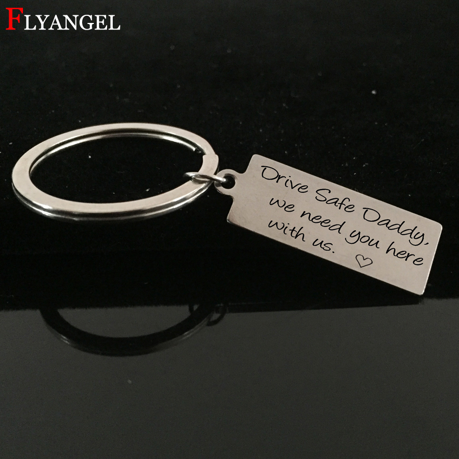 Personalised Photo /& Text Engraved Rectangle Keyring .