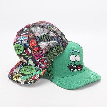 Caricatura Rick y Morty sombrero Sr. Meeseeks Whimsy ajustable casqueta  gorra de béisbol Hip Hop Snapback gorras sombreros 5503696327e