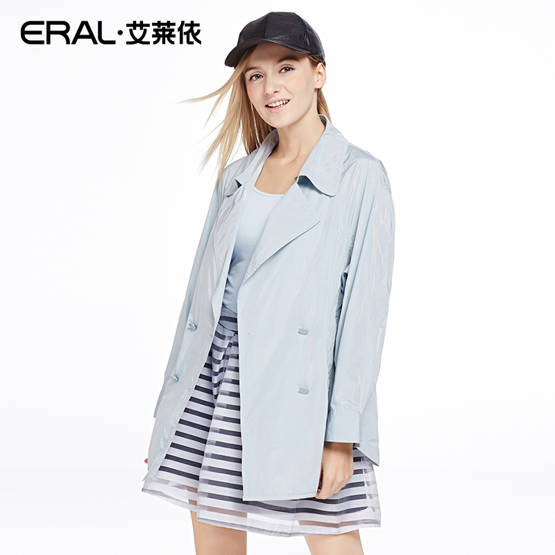 ᐂERAL Women s Spring New Arrival Long-sleeve Double Breasted Solid ... 1e6145819