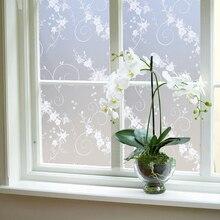 45X100 см матовая витражная плёнка на стекла, окна, фольги, самоклеющиеся наклейки на окна из ПВХ, водонепроницаемая спальня ванная комната