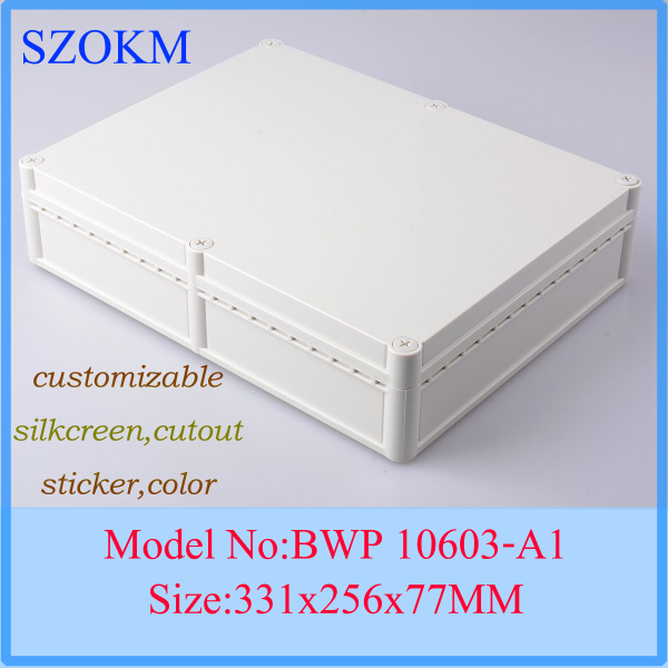 1 piece plastic electronic project box plastic electronics enclosure small plastic box 331x256x77 mm все цены