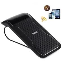 Nueva Negro Inalámbrica Bluetooth Manos Libres Car Kit manos Libres Parasol Clip 10 m Distancia Para el iphone Smartphones con Cargador de Coche