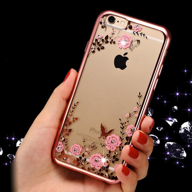 Cell Phone Case for iPhone 6 6S iPhone X 10 XR XS Max iPhone 7 8 Plus iPhone 5S 5 s SE 4 4s Silicone Clear Rose gold back Cover image