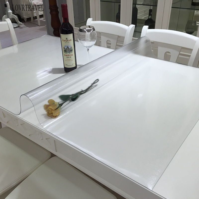 Frosted Pattern Pvc Soft Glass Table Cloth Crystal Table Mat Desk