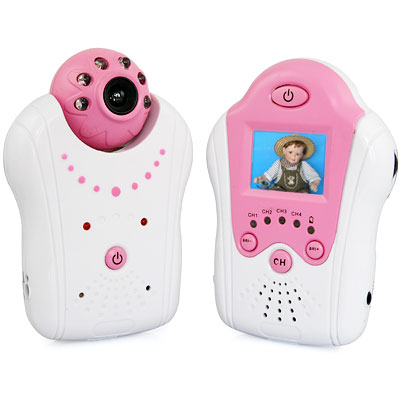 Portable 2.4Ghz Wireless Baby Monitor 1.5 inch LCD Display