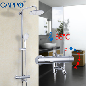 Image 4 - GAPPO Shower Faucets Thermostatic Bathroom Shower Set Thermostatic Bath Shower Waterfall Shower Heads Chrome Mixer Water Tap