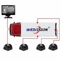 Super HD 1080 P 360 градусов bird панорамный Системы Surround View мониторинга Видеорегистраторы для автомобилей для пожарной машиной автобус школьный авт