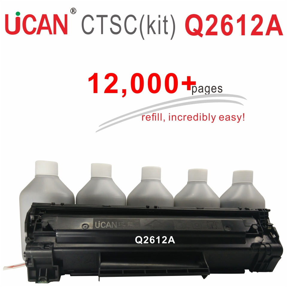 Q2612a 12a Toner Cartridges for Hp Laserjet 1010 1012 1015 1020 1022 M1005 MFP Printer UCAN 12000 pages Equal to 6-Pack ordinary for hp laserjet pro mfp m127fn m127fp m127fs m127fw printer ucan 83ar kit 12 000 pages equal to 8 pack cf283a toner cartridges