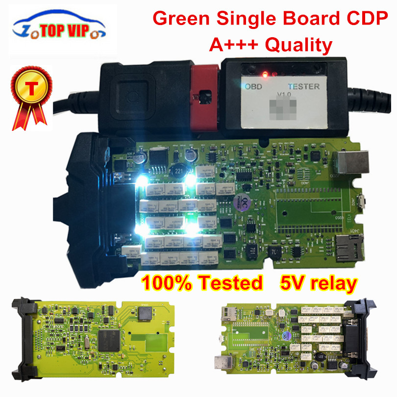 Best Quality TCS CDP Pro Newest 2016.00 newest Single Green board CDP with Bluetooth Diagnostic Scanner for cars&Trucks все цены