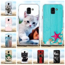 For Samsung Galaxy J6 2018 Case Soft TPU J600F J600G Cover Cute Pattern On6 Coque