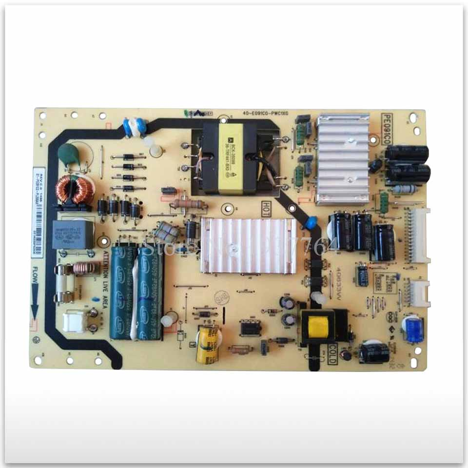 95% new Original power supply board 40-E091C0-PWC1XG used board 95% new used original board lc470due sfr1 lc470eun sff1