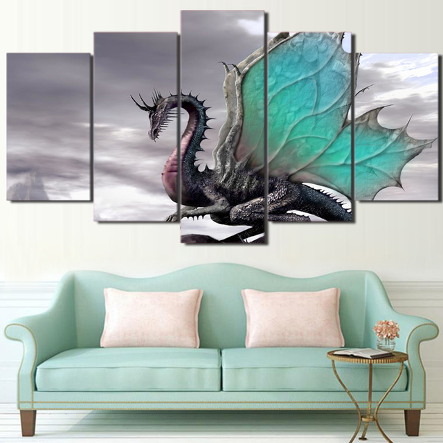 Hd printed cool enchanting dragon picture painting wall art room hd printed cool enchanting dragon picture painting wall art room decor print poster picture canvas free voltagebd Choice Image