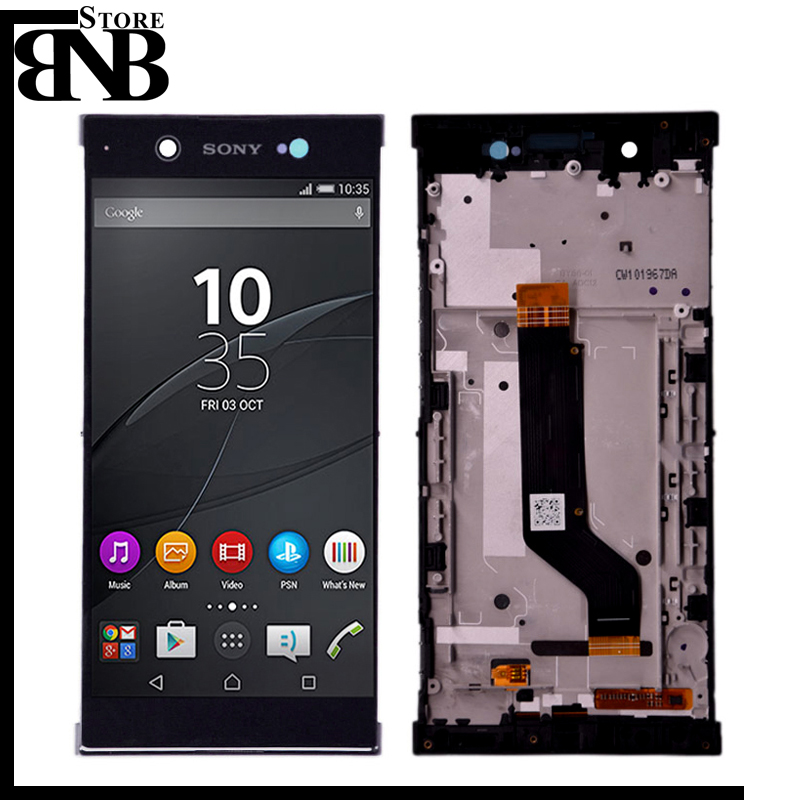 Original For <font><b>Sony</b></font> Xperia XA1 Ultra C7 LCD Screen Display Touch Digitizer Assembly with frame G3221 G3212 G3223 G3226 lcd frame image