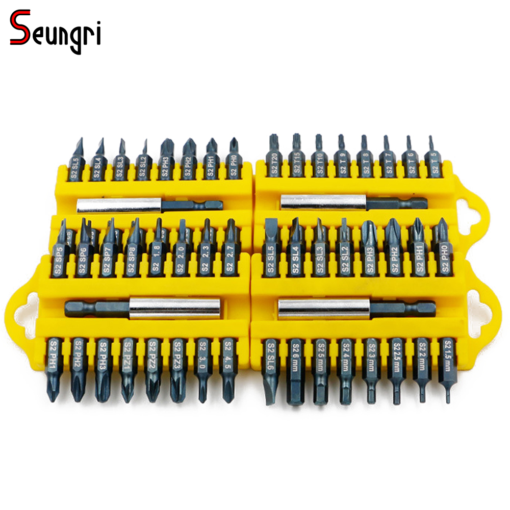 17PCS Electric Screwdriver Bit Set Hex Magnetic Insert Bit Set Torx Flat Head Cross Electric Screwdriver Screws 1pc st016 strong magnetic 65mm cross head screwdriver bit double head high quality electric screwdriver set ph2 free shipping
