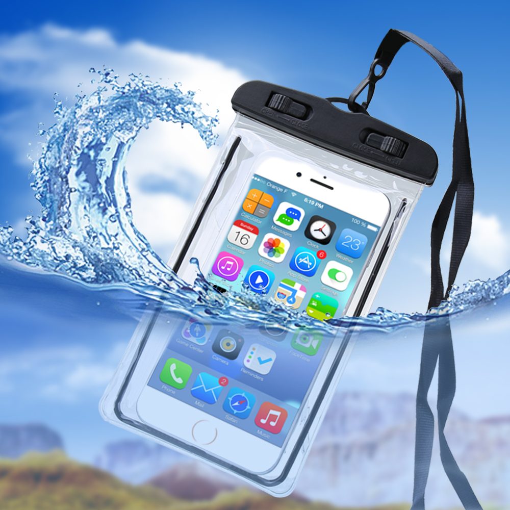Universal Waterproof Case For iPhone Samsung Mobile Phone Underwater Luminous Case For Huawei Xiaomi Summer Back Cover Fundas in Phone Pouches from Cellphones Telecommunications