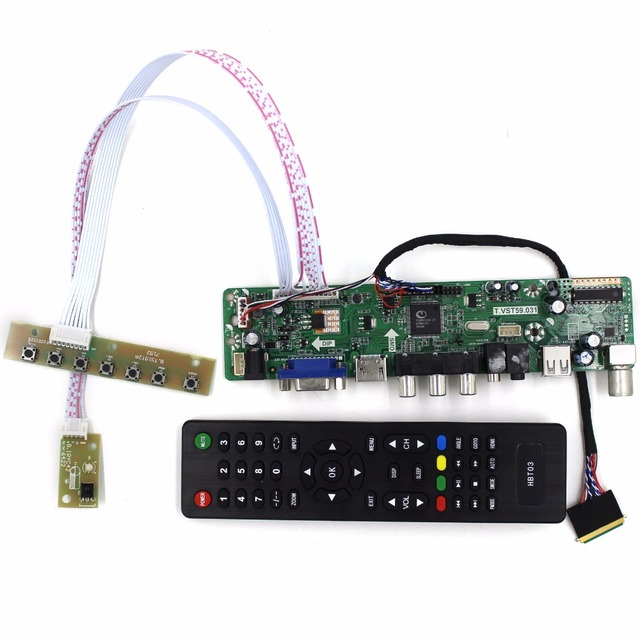 TV/HDMI/VGA/AV/USB/AUDIO LCD controller Board work for 14inch 15.6inch B140XW01 B156XW02 LP156WH2 1366x768 40Pin Lcd Panel