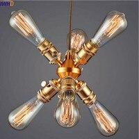 Iwhd Ameican страна Винтаж лампа ретро Открытый Подвесные Светильники LED столовая промышленные подвесные Освещение светильники Лофт Стиль Lampen