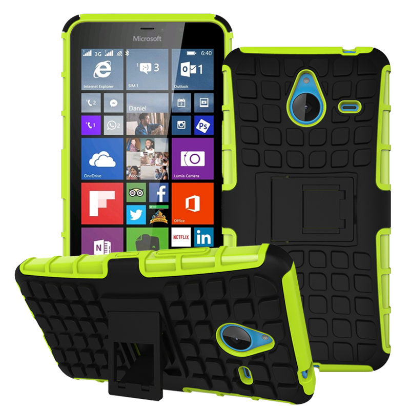 Case For Nokia Microsoft Lumia 640 640 XL 640XL Case Heavy Duty Armor Shockproof Hard PC Soft TPU Silicone with Stand back Cover