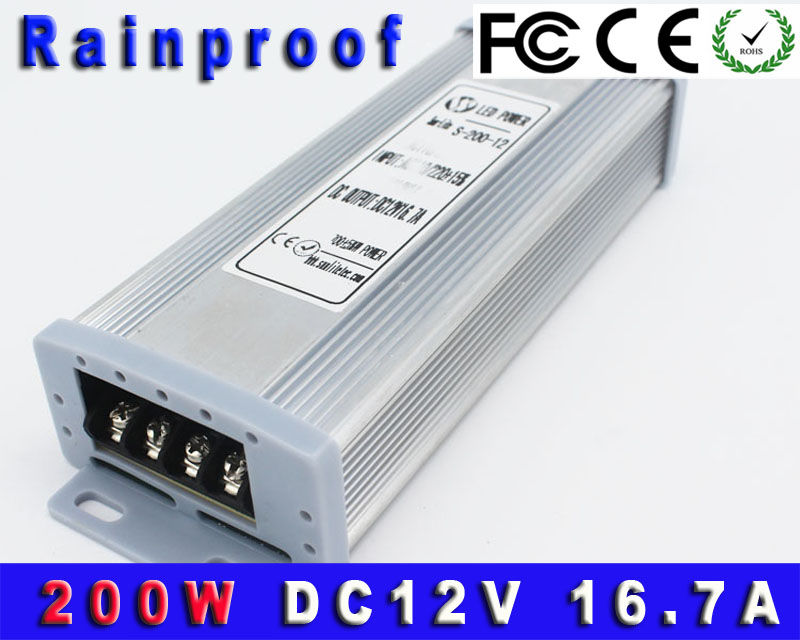 New 150W 12V 12.5A Single Output Rainrproof Switching power supply ...