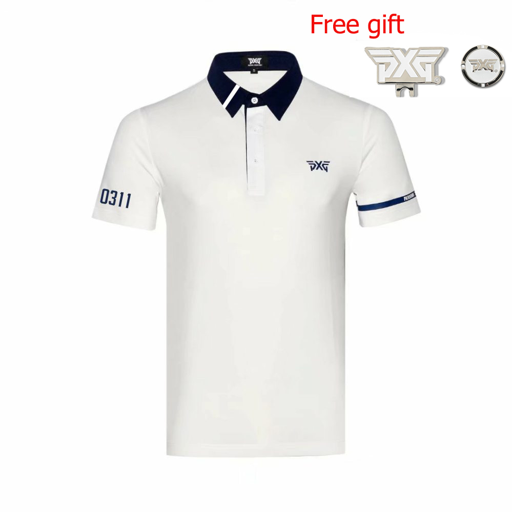 NEW Golf clothes PXG Golf T-shirt Short sleeve mens Sportswear Short sleeve 5colors S-XXL to choice free shipping everio summer golf t shirt short sleeve polo shirt quick dry breathable golf wear 5colors