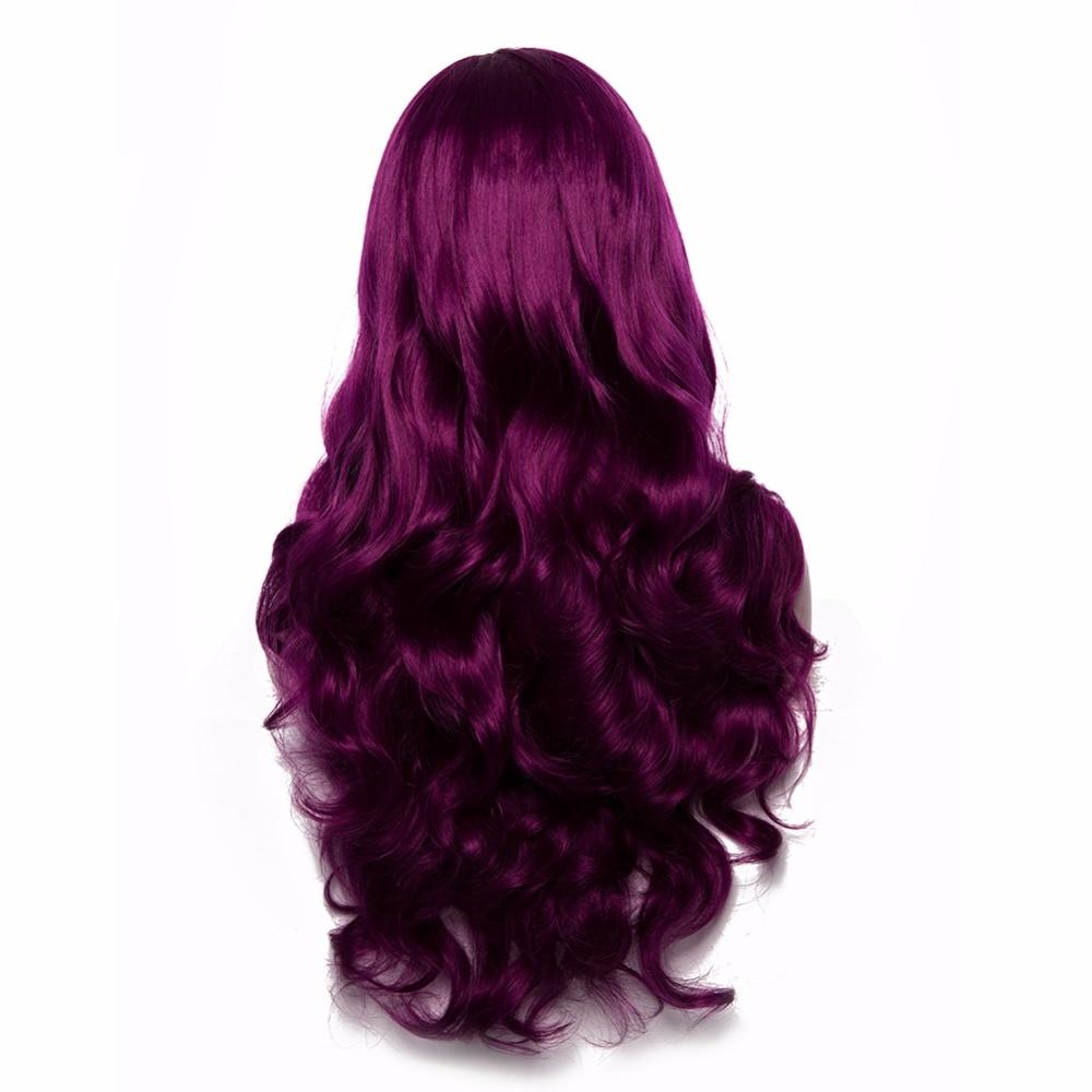Μωβ Συνθετική Lace μπροστινή περούκες - Συνθετικά μαλλιά - Φωτογραφία 5
