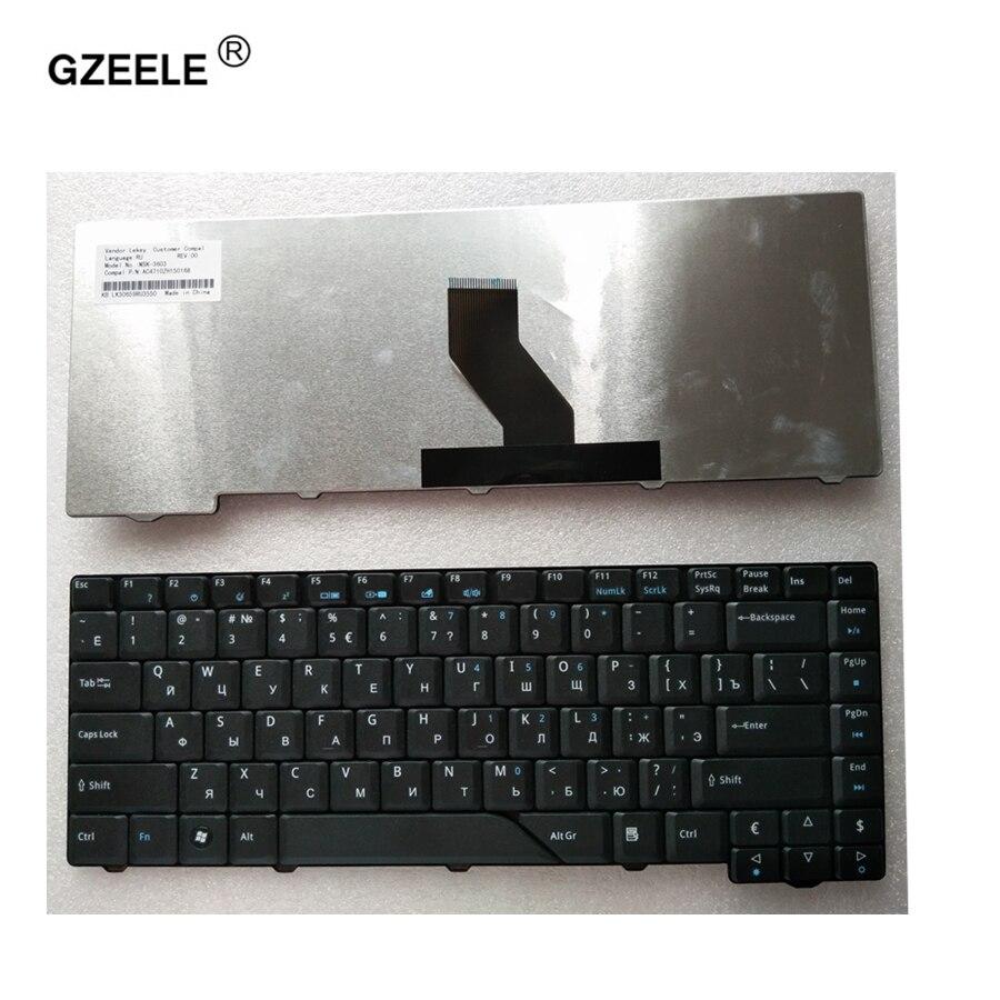 Gzeele Новый русский клавиатура для ноутбука Acer Aspire AS4710 as4520-5582 4710ZG EMACHINES E500 E510 серии Black RU раскладка клавиатуры