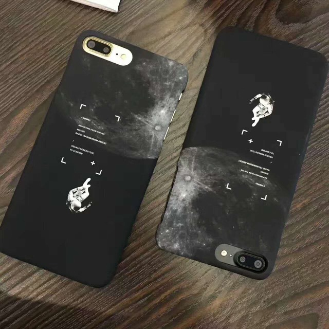 best sneakers 05323 0b0e8 US $7.49  New Planet Travel Astronaut Lost In Space Phone Back For iPhone 6  6s 7 Cover, Universe Case For iPhone 7 Plus I7 Fundas Capinha on ...