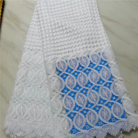 2019 New Arrival African Cord Lace Guipure Lace Fabric.High Quality Multicolor Water Soluble Lace Fabric 5yards/lot PL052202