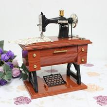 Imitation Wooden Sewing Machine Music Box Sky City Music Box craft Mother 's Day Creative Gifts Birthday Gifts