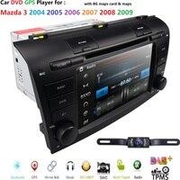 Автомобильный dvd плеер с ОС WinCE 6,0 Fit Mazda 3 gps навигация 2Din руль 800*480 SD радио Bluetooth ТВ DAB + коробка DVB T камера заднего вида