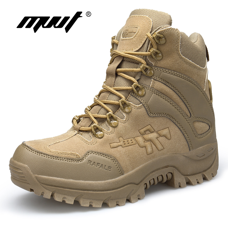 Classic PU Leather Men Boots Tactical Camping Desert Boot Military Army Shoes Breathable Snow Ankle Boots Botas Tacticos Zapatos
