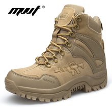 Classic PU Leather Men Boots Tactical Camping Desert Boot Military Army Shoes Breathable Snow Ankle Boots Botas Tacticos Zapatos недорого