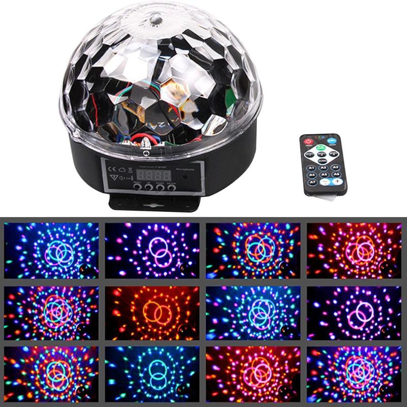 9-color RGB LED crystal magic lamp sound-controlled stage lighting laser light bar ktv flash stage effect light