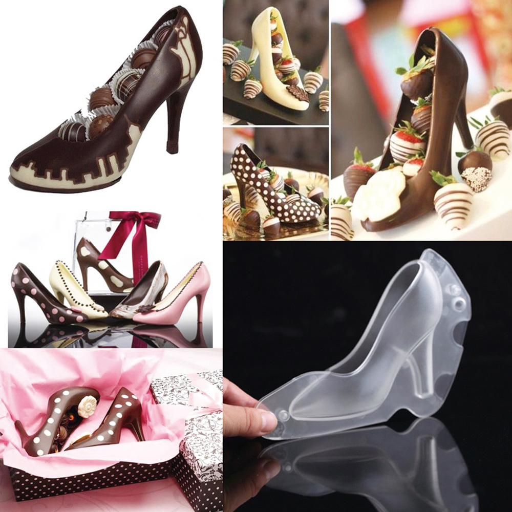 Pastry Shoes 2016 >> High Heel 3D Polycarbonate Chocolate Mold Shoes Cake Decorating Tools DIY Home Baking Moulds ...