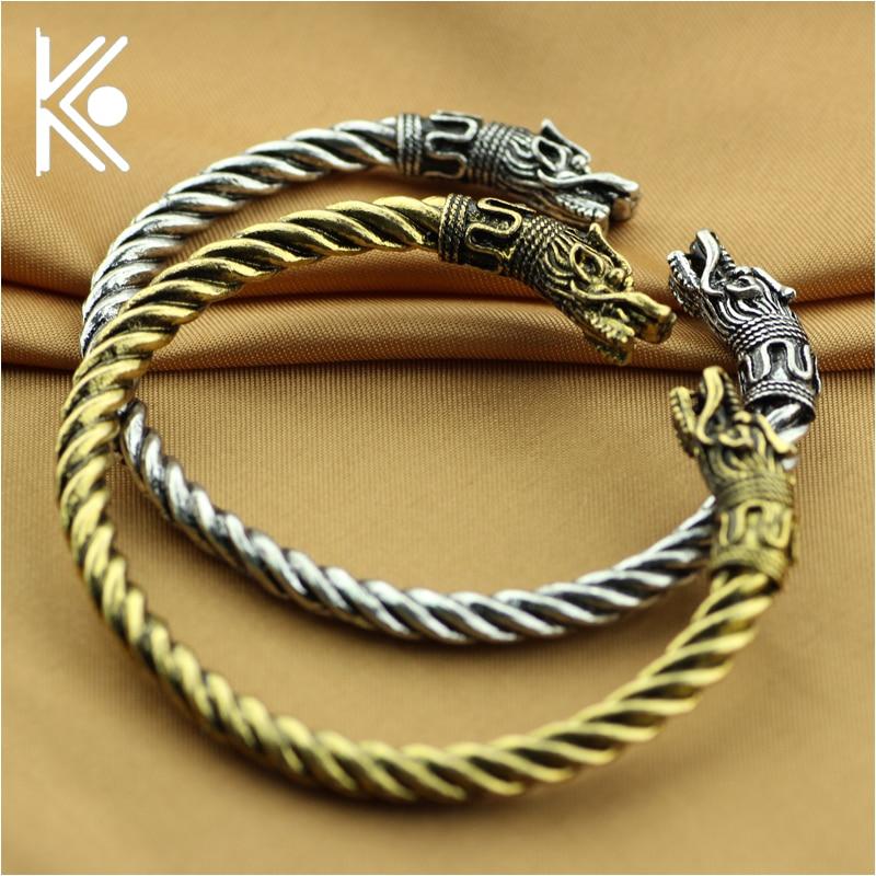 79128170976e € 2.75 |6 pulseras de vikingos de estilo brazalete de alta calidad para  hombres y mujeres joyería de moda vikingo la pulsera de lobo accesorios ...