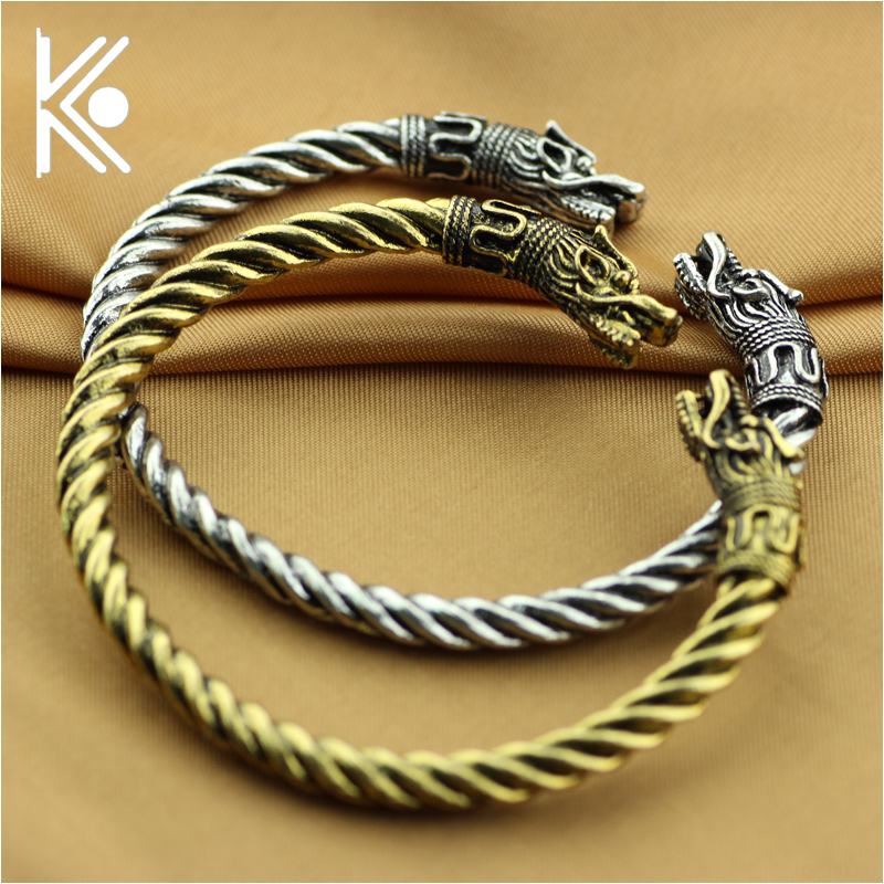 free epacket 6 style vikings bracelets for men viking in jewelry The vikings Wolf bracelet bangle Wolf jewelry
