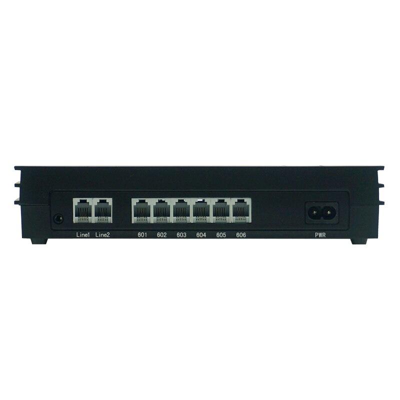 EXCELLTEL PABX système MD206 système téléphonique de bureau PBX 2 CO ligne et 6 extensions - 2