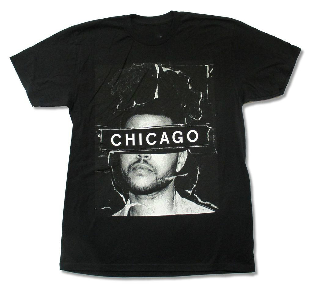 Design t shirt company - The Weeknd Chicago 2015 Event T Shirt New Official Adult T Shirt Design Company