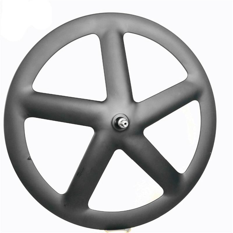 Roues carbone 5 rayons carbone 5 rayons pneu/roues tubulaires roues carbone à cinq rayons pour piste/vélo de route UD/3 K matte
