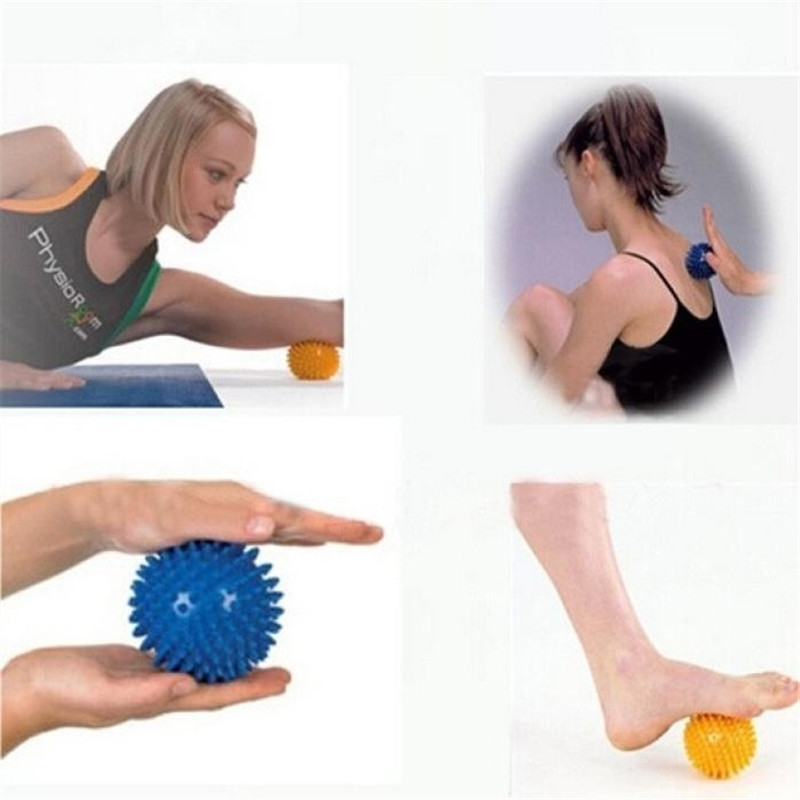 Massage yoga ball Soft Spiky Ball Massage Trigger Point Pain Stress Relief Sport Body Fitness Trendy Chic Random Color
